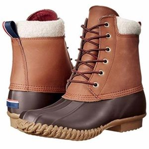 TOMMY HILFIGER RUSSELL LEATHER RAIN ANKLE BOOT